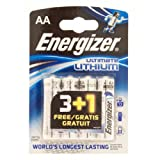 Energizer Ultimate Lithium AA 3+1 Batteries Carded 4