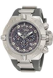 Invicta Men's 1390 Subaqua Noma IV Chronograph Grey Dial Grey Silicone Watch
