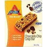 Atkins 37g Day Break Chocolate Chip Crisp Bars - 4 x boxes of 5 (20 Bars)