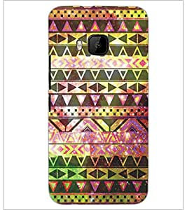 PrintDhaba Pattern D-5225 Back Case Cover for HTC ONE M9S (Multi-Coloured)