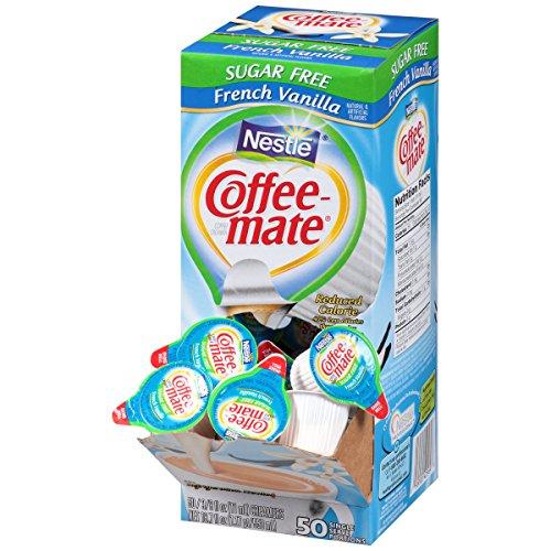 Coffee-mate Coffee Creamer, Sugar Free French Vanilla Liquid Singles, 0.375-Ounce Creamers, 50-Count