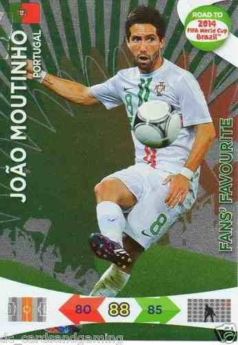 Adrenalyn XL Road To 2014 World Cup Brazil 203 Joao Moutinho Fans Favourite