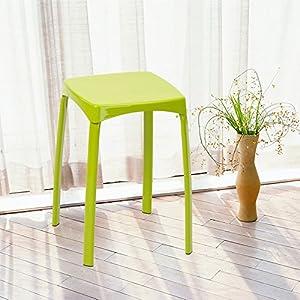 Coavas light stylish stool multifunctional colored stool red stool