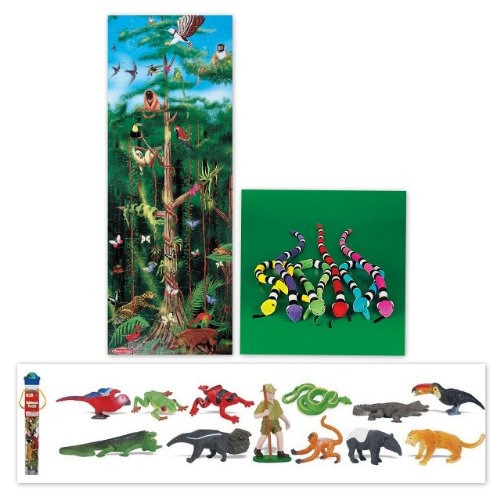 Cheap Bundles of Fun Melissa & Doug Rainforest Floor Puzzle with Rain Forest Toob Bundle of 3 Items with **BONUS** by Bundles of Fun (B0051VHIM6)