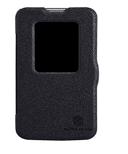 Nillkin Fresh Series Leather Flip Stand Bumper Back Case Cover With Smart Auto Wake Up Sleep Function For LG L90 Dual Sim D410 - Best Black