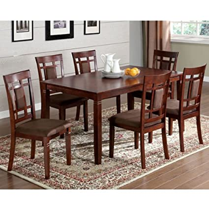 Montclair 7-Piece Dark Cherry Finish Dining Set