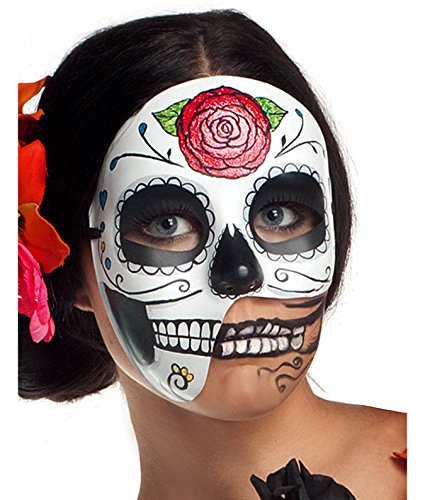 Party King Women's Day of The Dead 3/4 Costume Accessory Mask