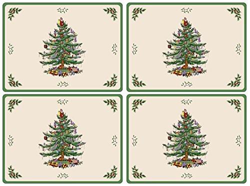 Spode Christmas Tree Hardback Placemats, Set of 4 4 Spode Christmas Tree