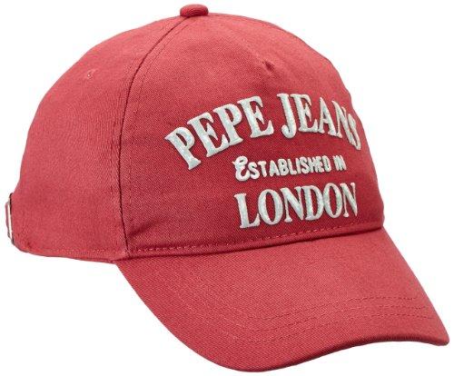 Pepe Jeans Jungen Kappe ORI CAP, Gr. 176 (Herstellergröße: L), Rot (WASHED RED 228)