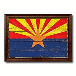 Arizona State Vintage Flag Art Collection Western Shabby Cottage Chic Interior Design Office Wall Home Decor Gift Ideas, 27\