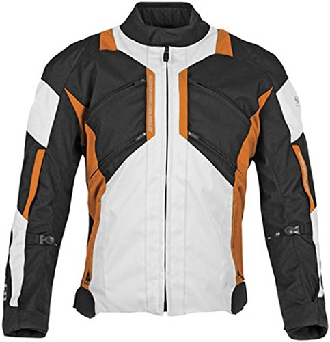 Speed and Strength Chain Reaction Men's Textile Road Race Motorcycle Jacket - Black/Orange / Medium