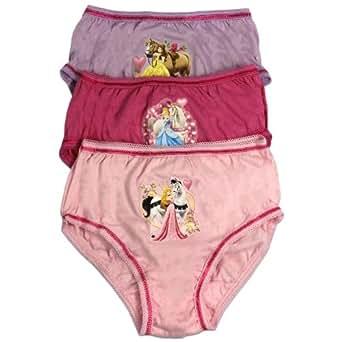 Disney Princess Culotte | Fille Princess 3 Pack Sous-Vêtements | Age 5 to 6 Ans