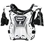 Thor MX Quadrant Protector Youth Roost Deflector Dirt Bike Motorcycle Body Armor - White/Black / One Size