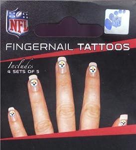 Pittsburgh Steelers Fingernail Tattoos