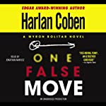 One False Move: A Myron Bolitar Novel (       UNABRIDGED) by Harlan Coben Narrated by Jonathan Marosz
