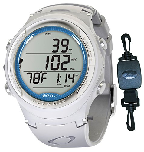 Oceanic geo 2 0 air nitrox scuba diving computer watch white slate blue decal w - Nitrox dive computer ...