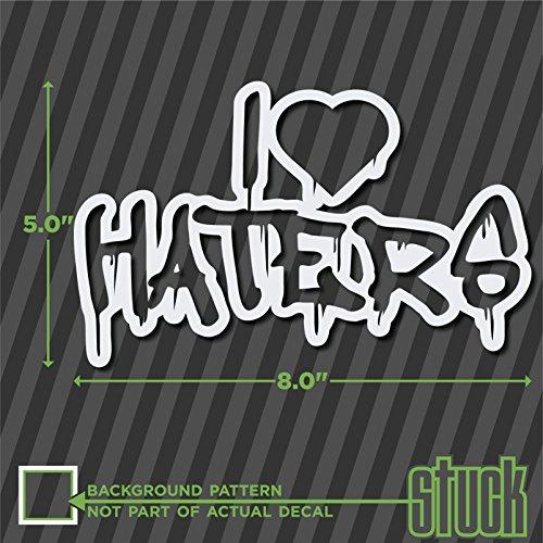 "I Heart Haters Drippy - 8"" x 5"" - vinyl decal sticker love hate drip"