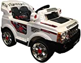 KIDS RIDE ON 12V TWIN MOTORS WHITE RANG ROVER STYLE RECHARGEABLE JEEP + PARENTAL REMOTE CONTROL AND MP3 INPUT + digital battery capacity meter+ fast/low speed option. (range rover-white/12v)