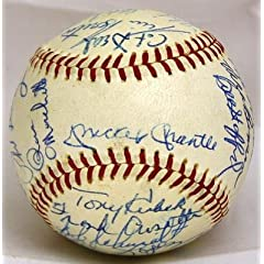 Mickey Mantle and Whitey Ford Autographed Baseball - 1965 Team By 25 - JSA Certified... by Sports Memorabilia