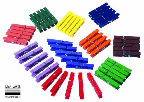 """'Pinces à linge bois """"Multicolore Lot de 50"""