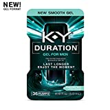 K-Y Duration Gel for Men - Male Genital Desensitizer 0.16 oz (36 Pumps), Condom Compatible Endurance Enhancing Delay Gel to Help Men Last Longer in Bed