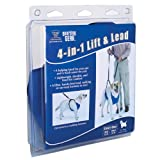 Guardian Gear Nylon Lift and Lead 4-In-1 Dog Harness, Small, Blue