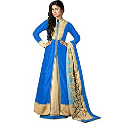 Vasu Saree Mouni Roy Arresting Blue Embroidered Work Silk Designer Suit