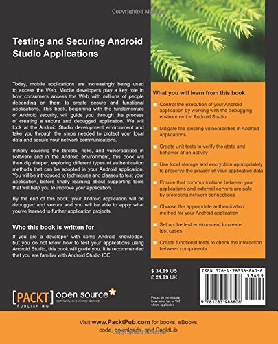 Testing and Securing Android Studio Applications cover