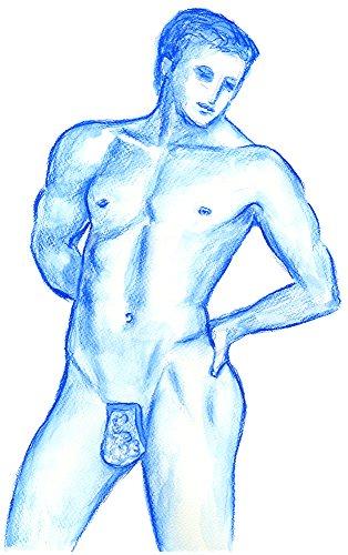 11×14 His Boudoir Nude Fetish Lingerie Male Model Art Print
