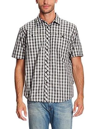 Trespass Camisa Hombre Hip (Negro / Blanco)