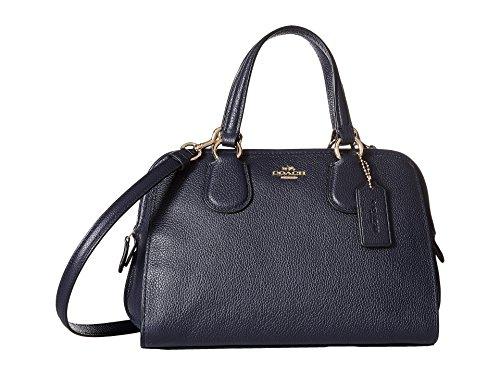COACH Women's Pebbled Leather Mini Nolita Satchel LI/Navy Satchel (Coach Purse Blue compare prices)
