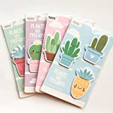 Vann92(TM) 60 Sheets/Pack Cactus Sticky Notes Memo Pad School Office Suply Student Stationery Notepad (Color: multicolored, Tamaño: Radom)