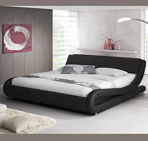 Letti e Mobili - Letto di disegno Alessia in colore nero – 160 x190cm
