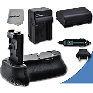 High Performance Battery Grip for Canon EOS 5D Mark III DSLR Camera plus 1 High Capacity Replacement Canon LP-E6 Battery and AC/DC Quick Charger Kit