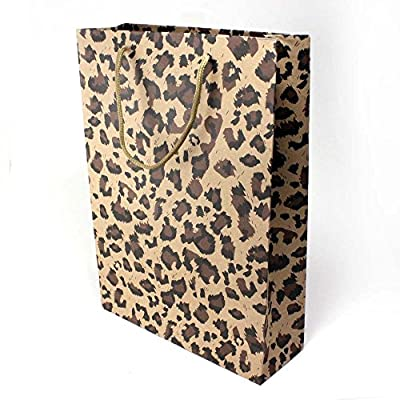 "13"" Leopard Print Craft Gift Bags [Set of 2]"