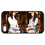 Personalized Design of WWE The Bella Twins Background Fitted Black Hard Case Cover for iPhone 4/4S- Cell Phone Accessories
