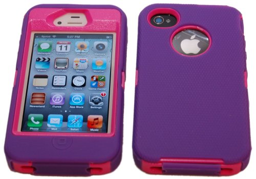 Body Armor Defender Case for iPhone 4/4S - Purple