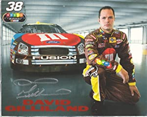 Buy Autographed David Gilliland #38 M&M NASCAR Hero Driver Card