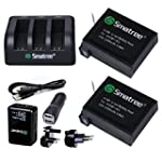 Smatree Battery (2-Pack) and 3-Channe...