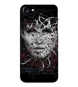 EPICCASE Face Art Mobile Back Case Cover For Apple iPhone 7 (Designer Case)