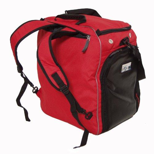 Professional wintersport rucksack- / bootbag helmet bag original HENRY BRUBAKER red/black.
