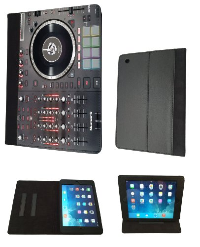 DJ Mixer Controller Dj Clubbing Music Men Case Design Fashion Trend Leather Flip Case For All Apple iPad Mini 1 & ipad mini 2 Retina / Ipad 2 3 & 4 / ipad air ipad 5 Full Case Flip Leather Stand Cover - Choose your ipad model from the drop box under (ipad 2 ipad 3 ipad 4) (Mixer 2 Chanel compare prices)