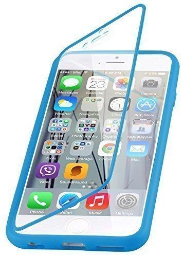 Flip cover iPhone 6, JAMMYLIZARD Custodia full-body protezione totale in Silicone per iPhone 6 e 6s, BLU