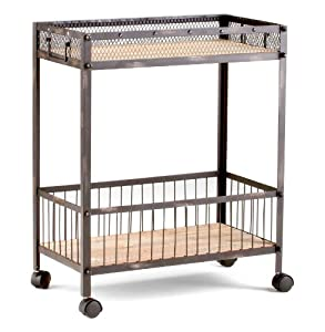 amazon com raw iron amp reclaimed wood serving bar cart amazon com clear tempered glass round sleek chrome