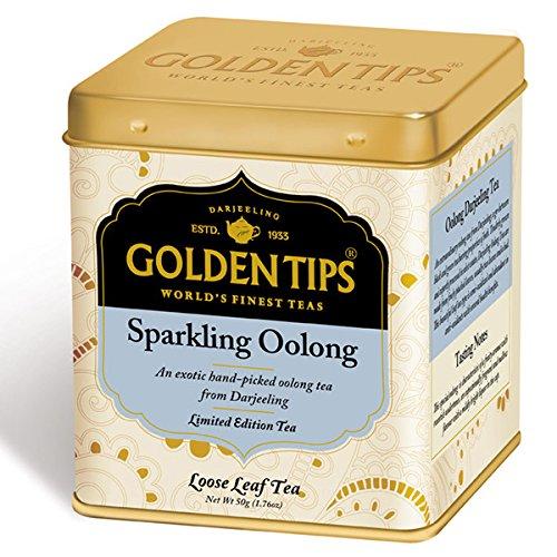 Golden Tips Sparkling Oolong Tea, Loose Tea, 50 Gram 1.76 Oz Tin