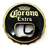 Corona Extra Bottle Opener Beer Cap Belt Buckle Black & Gold