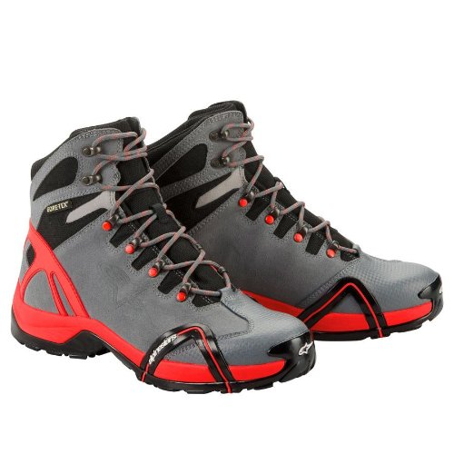 Alpinestars Alpinestars CR4 Gore-Tex XCR Boots , Distinct Name: Anthracite/Red, Size: 13, Gender: Mens/Unisex, Primary Color: Red 2338012-14