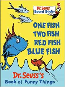 One fish two fish red fish blue fish dr seuss board for One fish two fish book