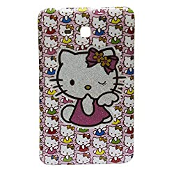 Hello Kitty Silicone Hard Back Case Cover For Samsung Tab 3 Lite Sm-T110 7.0