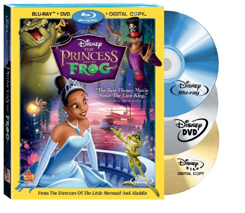 The Princess and The Frog (Three Disc Combo: Blu-ray/DVD + Digital Copy)